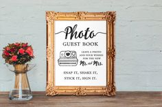 photo guest book  leave a photo and your wishes by DesignsByKhari