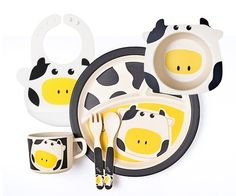 Celebrate Children's Day, limited to Baby Gift Sets, Baby Gifts, Cute Cows, Child Day, Bamboo, Fiber, Snoopy, Tableware, Dinnerware