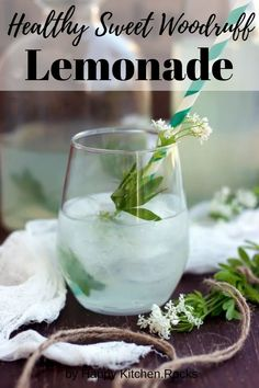 Healthy Sweet Woodruff Lemonade Recipe: Refreshing, flavorful and fragrant summer drink made with sweet woodruff, lemon, honey and water. Easy Drink Recipes, Best Cocktail Recipes, Yummy Drinks, Real Food Recipes, Vegetarian Recipes, Healthy Recipes, Water Recipes, Healthy Smoothies, Healthy Drinks