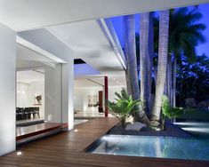 Casa SB - modern - pool - other metro - Eva Hinds Outdoor Seating, Outdoor Rooms, Outdoor Living, Jacuzzi, Exterior Design, Interior And Exterior, Modern Exterior, Infinity Pool, Moderne Pools