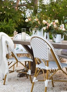 Fun French Bistro Chairs for Summer | The Well Appointed House Blog: Living the Well Appointed Life