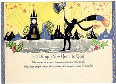 Vintage New Year's card. (eBay)