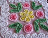 chenille. They don't make it like this anymore. GORGEOUS!