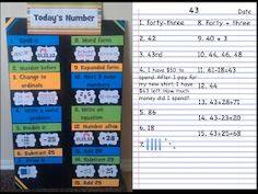 Simply 2nd Resources: Crafty Wednesday #4 ~ Today's Number Board
