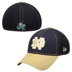 Notre Dame Fighting Irish New Era Logo Crop Neo 2 39THIRTY Flex Hat – Navy Blue - $27.99