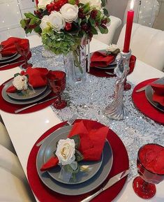 Table Settings, Dinning Table, Ideas, Xmas, Christmas Tables, Table Toppers, Table, Dekoration, Place Settings