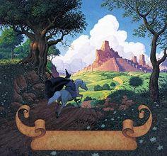 Tolkien Calendar July 1976 Road to Minas Tirith, Brothers Hildebrandt