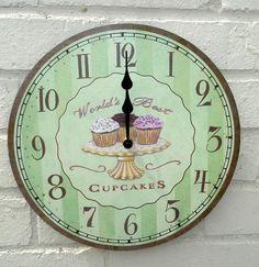 vintage cupcake clock
