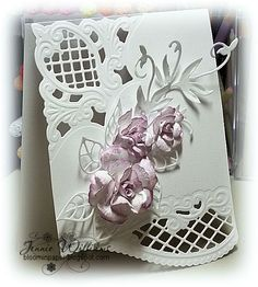 Bloomin' Paper: Marianne Designs  love the cut of the card