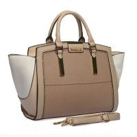 SY1647 Beige - Sally Young Multi-level Patchwork Handbag