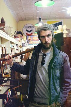 I always thought that axes would make wonderful  accessories. beards, lumberjack, axe, woodsman #beardporn