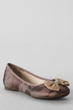 Girls' Claire Bow Ballet Shoes from Lands' End