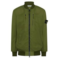 STONE ISLAND Lucido-Tc Packable Bomber Jacket | Cruise Fashion Stone Island Badge, Cruise Fashion, Island Man, Spring Outfits, Fashion News, Sleeves, Flannels, Bomber Jackets, Shopping