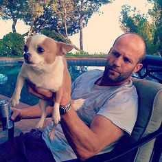 Jason hanging with his pooch