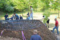 Einleitung Der Biomeiler in der Landwirtschaft, bis zu 1MW Der Biomeiler zur Verwertung von Biogasanlagen-Substrat