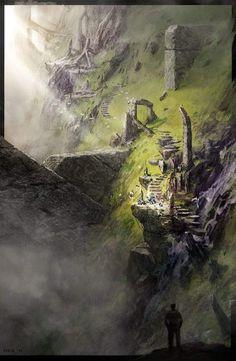 High temple by bogdan-mrk on deviantart fantasy rpg, high fantasy, medieval fantasy Fantasy City, Fantasy Places, Fantasy Kunst, High Fantasy, Medieval Fantasy, Fantasy World, Fantasy Artwork, Fantasy Art Landscapes, Fantasy Concept Art
