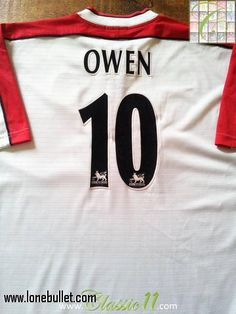 f42c7d20a Relive Michael Owen s Premier League season with this original Reebok  Liverpool away football shirt.