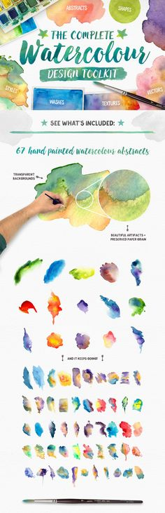 The Complete Watercolour Design Toolkit #resources #watercolour #bundle Too good to resist. $10 special until Friday 13th November then the price goes up to $18. :(