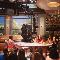 There's a turn in the weather as things get a little stormy for @sherylunderwood on #TheTalk set!
