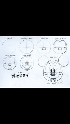 drawing disney mickey mouse how to mickey tutorial steve thompson how to draw Mickey Mouse Drawing Easy, Mickey Mouse Drawings, Easy Disney Drawings, Cute Easy Drawings, Doodle Drawings, Cartoon Drawings, Drawing Sketches, Drawing Lessons, Disney Art