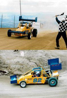 John Johnson in his Greenwood-Hull VW powered Pikes Peak Hill Climb race car in 1996