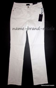 NEW NYDJ White Straight Leg Denim JEANS Womens Size 2 NWT Not Your Daughters #NotYourDaughtersJeans #StraightLeg