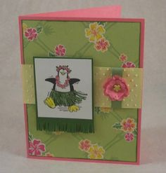 Hula Penguin by HeatherHolbrook - Cards and Paper Crafts at Splitcoaststampers