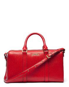 red leather bag - bolso rojo piel asa corta bimba & lola