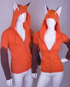 Cute fox hoodies that are handmade, that no one ever has places to wear them to. Yet, I'd buy it!