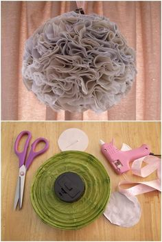 Fabric Pom pom DIY tutorial