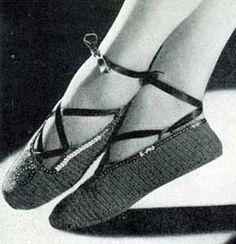 Vintage Ballet Slippers  No. 4711, Free Crochet Pattern