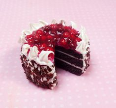 Black Forest Chocolate Cherry Cake Magnet, Polymer Clay, Food Decor, Dessert Magnet by ScrumptiousDoodle on Etsy https://www.etsy.com/uk/listing/258903453/black-forest-chocolate-cherry-cake