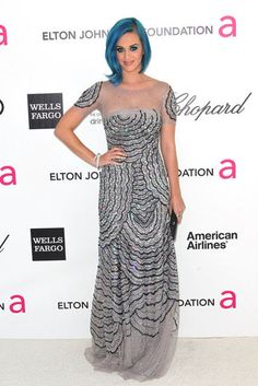 Katy Perry in Blumarine...I just wish her hair wasn't blue.