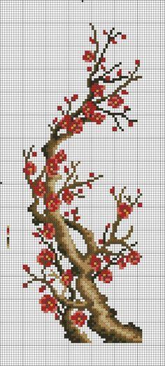 folding screen part 5 of 5 123 Cross Stitch, Free Cross Stitch Charts, Cross Stitch Tree, Beaded Cross Stitch, Crochet Cross, Cross Stitch Flowers, Modern Cross Stitch, Counted Cross Stitch Patterns, Cross Stitch Designs