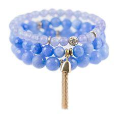 Light Blue Color Karma Bracelet Set