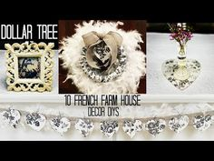 DOLLAR TREE 10 French Farm House DIYs French Country Farmhouse, French Country Decorating, French Style Chairs, Cozy Fireplace, Dollar Store Crafts, Minimalist Bedroom, Shabby Chic Decor, Dollar Tree, Decorating Ideas
