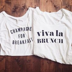 It's officially Black Friday and we're giving everyone 50% off ALL clearance items like these two tees perfect for brunch!  Tag your #brunchsquad