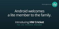 We made you wait long enough. The application won't. Today. 12th May 2016. It's APPening now! #NothingButScores #HWCricket #IPL #IPL2016 #Cricket #Android #App