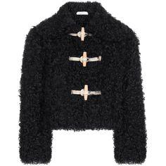 Philosophy di Lorenzo Serafini Shearling Duffle Jacket (166.005 RUB) ❤ liked on Polyvore featuring outerwear, jackets, beige, toggle jacket, slim jacket, shearling jacket, beige jacket and slim fit jacket