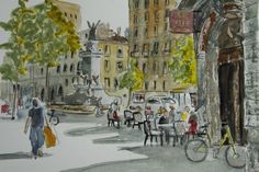ink and watercolour Julia Hardman