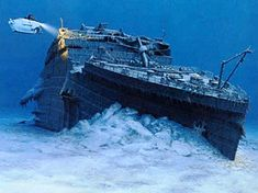 Titanic in the bottom of the sea