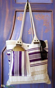 008. Vászontáska/antik újrahasznosított vászon táska/régi derékaljból készült táska /eredeti pamutvászon táska/ritka (HarmonicStyle) - Meska.hu