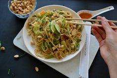 Asiatische gebratene Nudeln mit Gemüse und Tofu Einfach, schnell, lecker! Rezept auf www.hopefray.blogspot.com