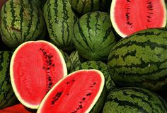 Fresh watermelon was a favorite of dad's in the summer, with five kids, he brought home two or three at a time!