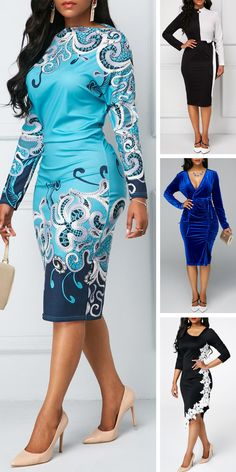 Fall wardrobe basics for ladies,check out our website,you will get fall suprise.Dressing advice that will help you dress better.New arrivals include dresses,blouse,sweaters will added everyday. African Fashion Dresses, African Dress, Fashion Outfits, Womens Fashion, Fashion Trends, Sexy Dresses, Cute Dresses, Cute Outfits, 50s Dresses