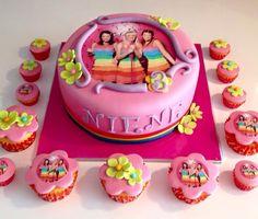 K3 taart en cupcakes