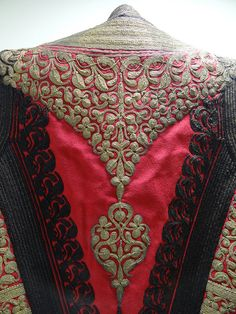 Traditional Costume - Ethnographic Museum - Cetinje - Montenegro Hand Embroidery, Embroidery Designs, Creative Embroidery, Folk Costume, Costumes, Ethno Style, Passementerie, Gold Work, Fashion History