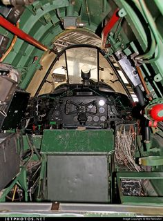 Vertical aspect Interior View of the Nose/ Flight Deck of Bristol (DAP)156 Beaufighter Mk.21 A8-328 on display at the Australian National Aviation Museum (ANAM) Moorabbin Victoria during the 'Open Cockpit Day' on 08Nov2014. The Beaufighter fuselage cross-section is distinctive. (Aircraft Marked to represent A8-39, Code EH-K.) A8-328 was Allotted to 1AD on 09Sep1945, stored at Tocumwal, and Converted to a Target Tug (TT) from 10Nov1950. Allotted to 30(TT)Squadron on 17Sep1953...