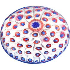"""Museum Quality Rare Antique Saint Louis Carpet Ground Paperweight - Listed in """"The One Hundred Most Important Paperweights"""""""