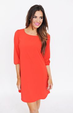 Scoop Neck Solid Tunic- Red - Dottie Couture Boutique